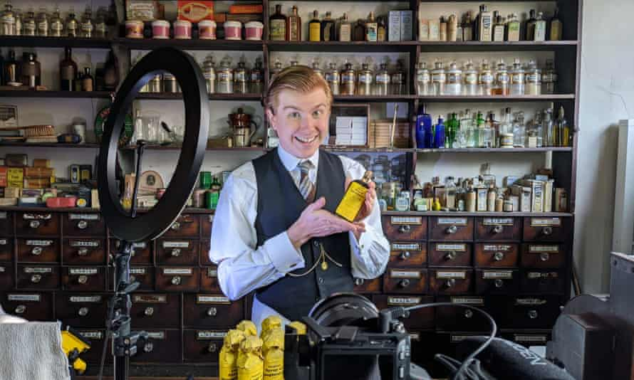 A Victorian chemist at the Black Country Living Museum in Dudley, which has more than 350,000 TikTok followers.