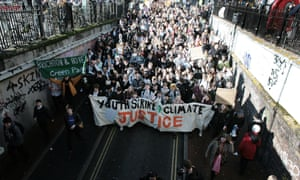 Students take to the street in Brighton