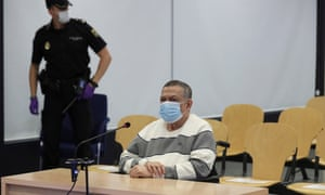 Inocente Orlando Montano in court n Madrid in June.