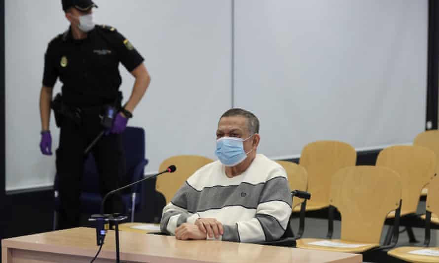 Inocente Orlando Montano in court n Madrid in June.