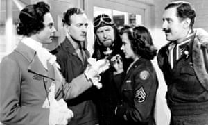 Marius Goring, David Niven, Roger Livesey, Kim Hunter and Robert Coote in A Matter of Life and Death.