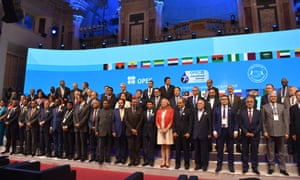 Delegates at the Opec meeting in Vienna.