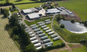 An aerial view of the AS Green and Co farm.