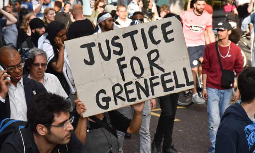 Grenfell Tower Fire Protest