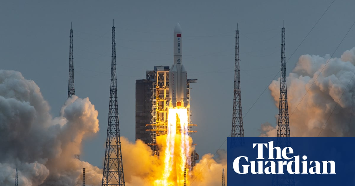 Heavenly Harmony: China launches first module of new space station – video