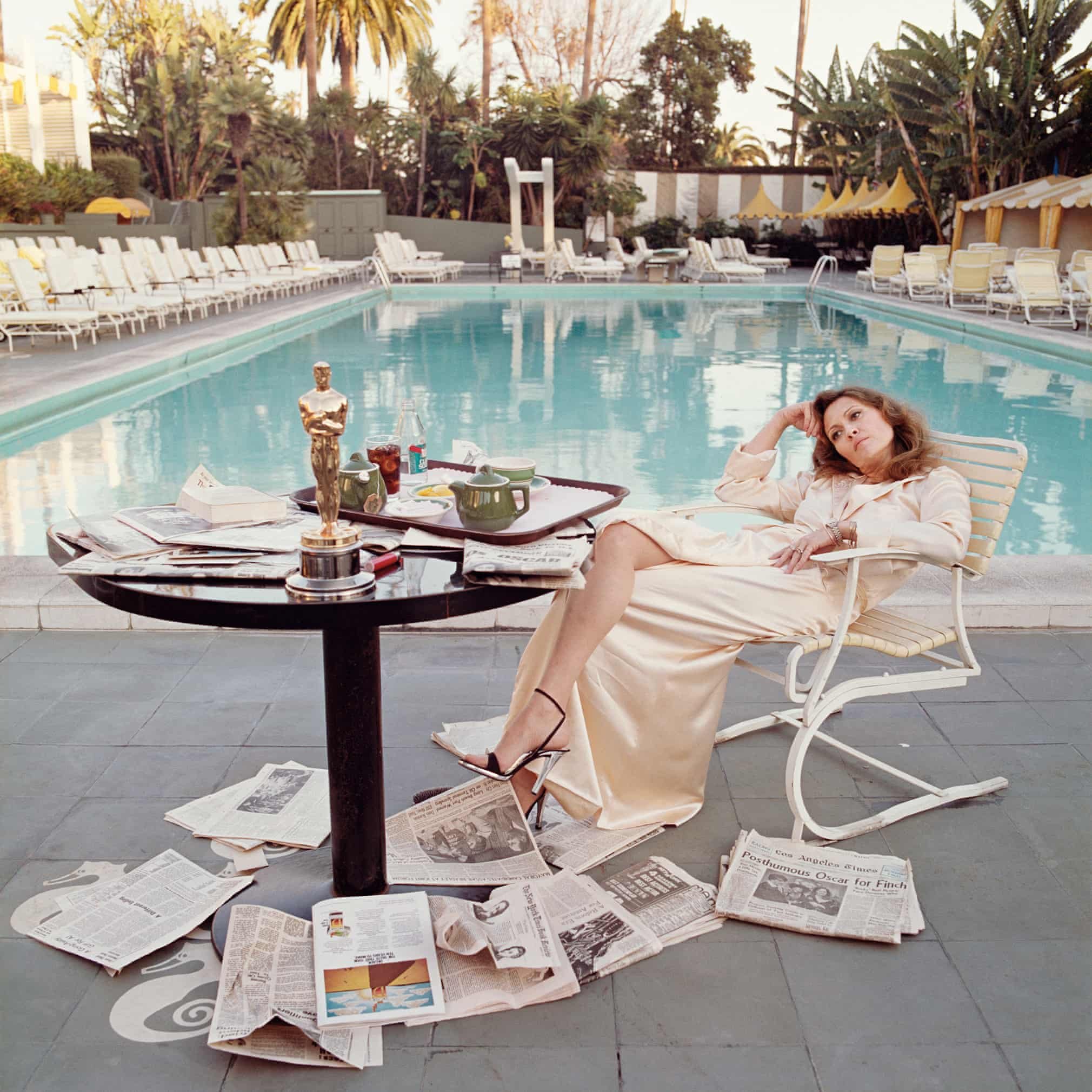 Terry O'Neil's image of Faye Dunaway, the morning after the Oscars