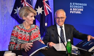 Julie Bishop and Malcolm Turnbull