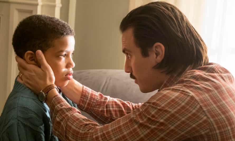 Wears its heart on its sleeve to such great effect … Randall with his dad Jack in This Is Us.