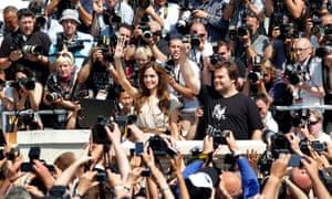 Angelina Jolie and Jack Black promoting Kung Fu Panda in 2011.