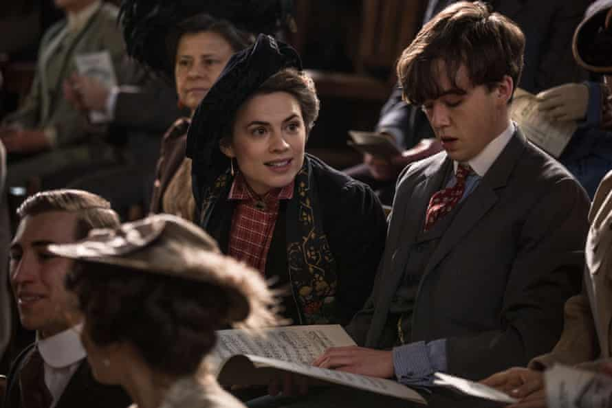 Hayley Atwell with Tracey Ullman, left, and Alex Lawther in Howards End.