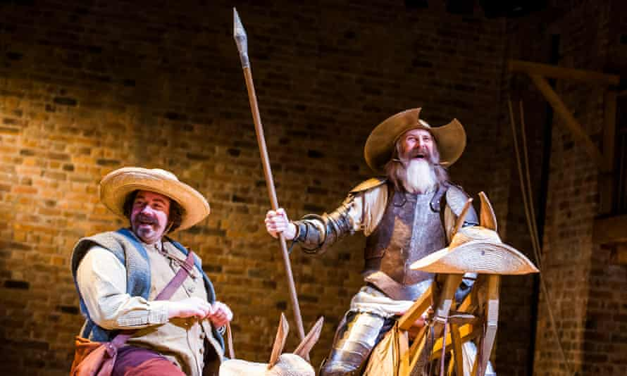 Men on a mission: Rufus Hound as Sancho and David Threlfall as Don Quixote at the Swan.