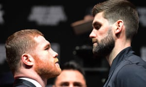 Rocky Fielding towers over Canelo Álvarez. The boxer was born Michael Fielding but picked up the nickname for his size as a youngster.