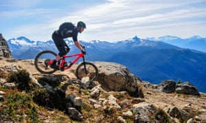 Mountain biking in Whistler, British Columbia, Canada