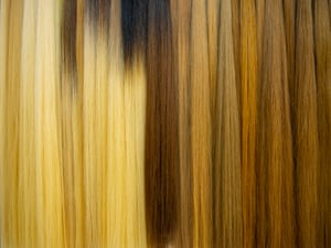 An array of different hair gradients.