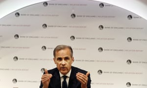 Mark Carney, Governor of the Bank of England, addresses the media today
