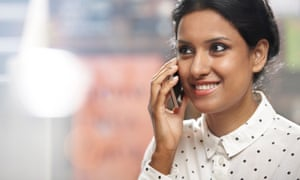 Woman talking into her mobile phone