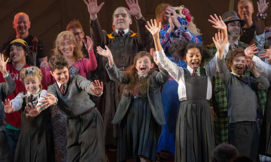 Curtain call during a performance of Matilda the Musical in London's West End.