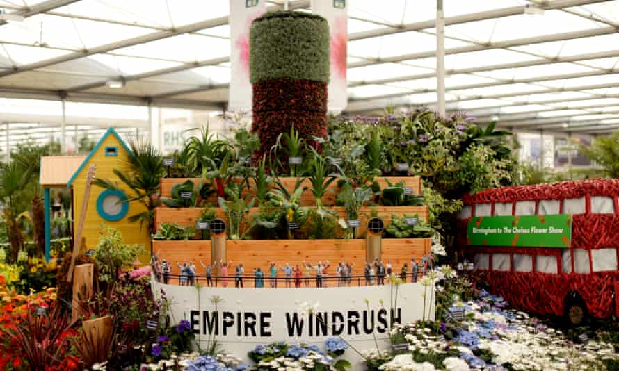 Floral tribute: Floella Benjamin's Windrush Garden, celebrating the 70th anniversary of the ship's arrival, Chelsea Flower Show, 2018.