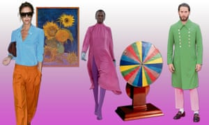 Colour in: Victoria Beckham in Van Gogh-inspired shades; Balenciaga SS17; a replica of Isaac Newton's colour wheel; Jared Leto in Gucci green and pink.