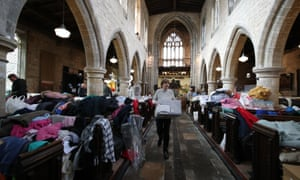 St Cuthbert's Church in Fishlake, near Doncaster, has become a collection point for donations for flood victims as the area pulled together.