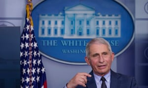 Fauci at the White House on Wednesday.