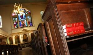 Empty church in London