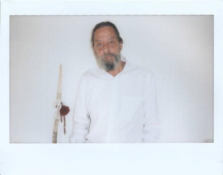 A Polaroid self-portrait by Ulay.