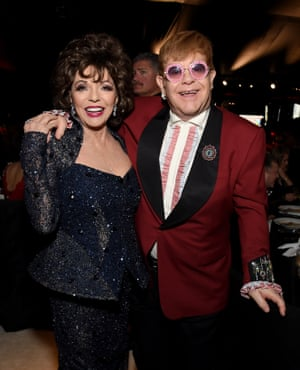 Joan Collins was also in attendance