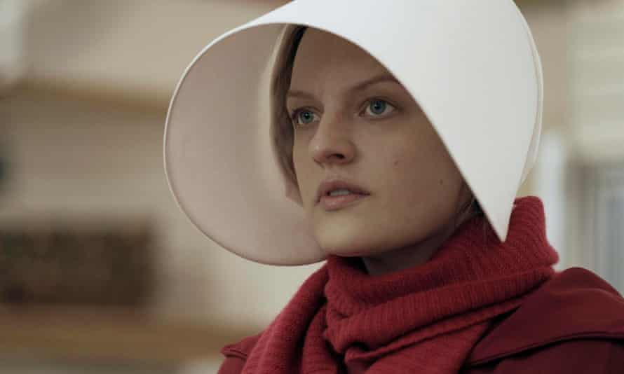 Elisabeth Moss in the US TV adaptation of The Handmaid's Tale.