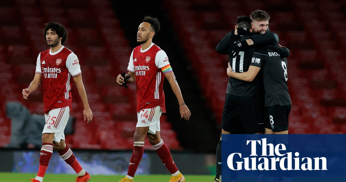 Arsenal beaten again as Burnley profit from own goal and Xhaka red card