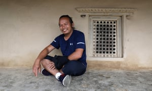 Maila on a verandah in his home village of Sikles.