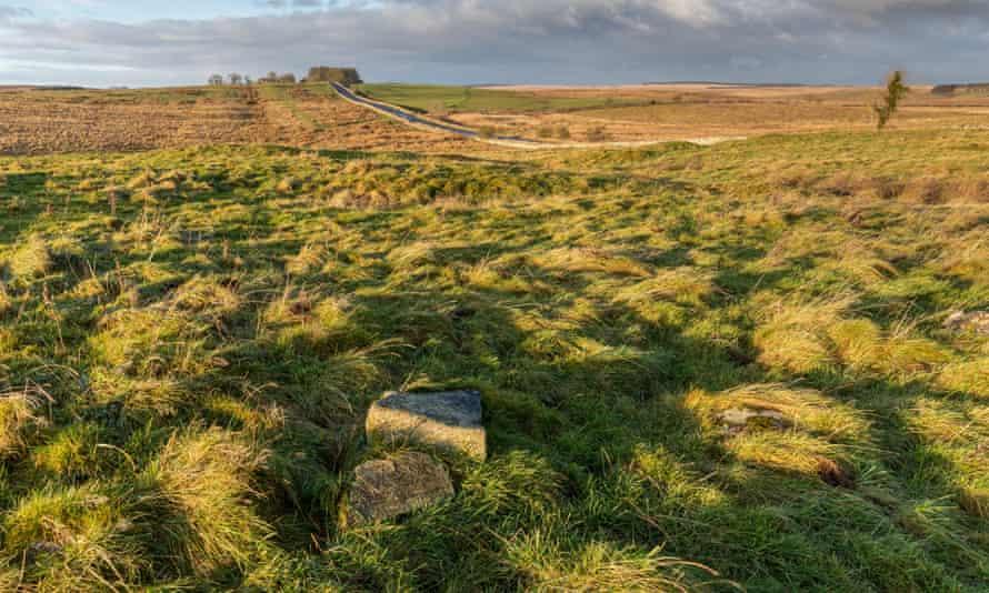 Carrawburgh Roman fort, one of 16 along Hadrian's wall.