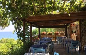 Terrace at A Casa di Delia restaurant.