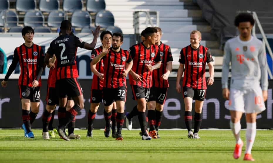 Eintracht Frankfurt scored twice in the first half and ably fended off a Bayern Munich fightback on Saturday.