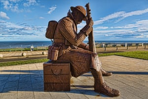 Statue of Tommy, a first world war soldier in Seaham.