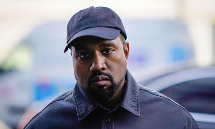 Kanye West during Paris Fashion Week in 2018.