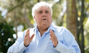 Queensland businessman Clive Palmer is seen during a press conference at Paradise Point on the Gold Coast, Wednesday, 12 August 2020.