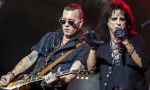 Johnny Depp, left, and Alice Cooper