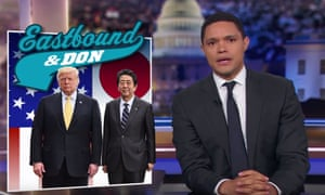Trevor Noah: 'Trump basically just said, because North Korea's missiles can't reach the US, that's Japan's problem, not his.'