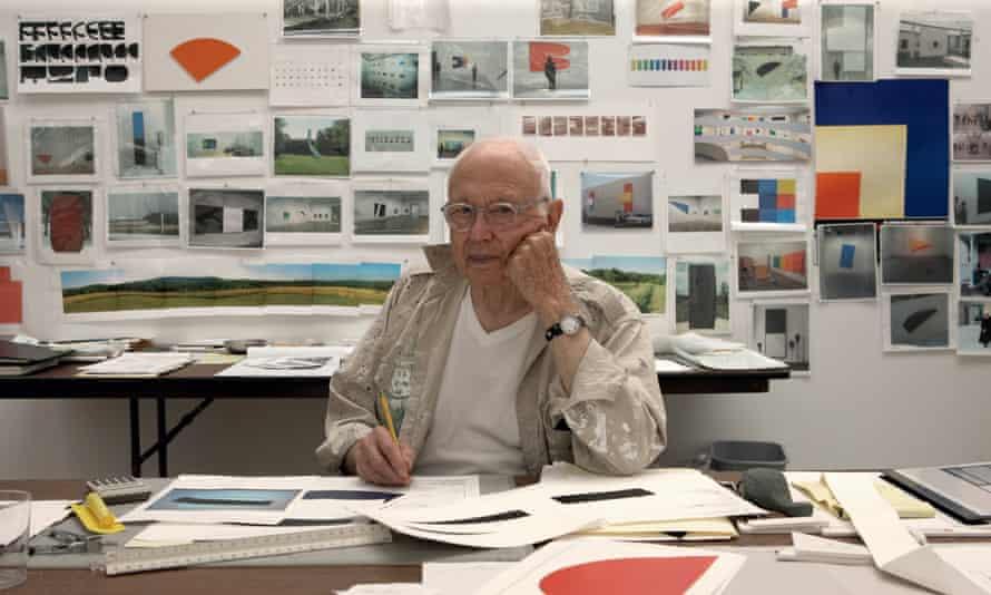 Ellsworth Kelly, photogprahed in his studio in Spencertown, New York