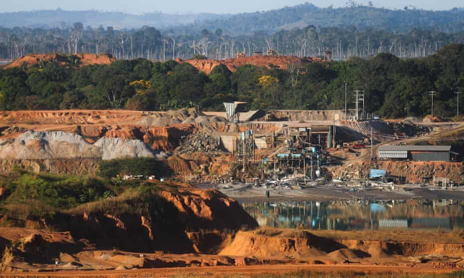 The Bom Futuro tin mine in a deforested section of the Amazon in Brazil