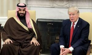 Mohammed bin Salman with Donald Trump in Washington earlier this year.