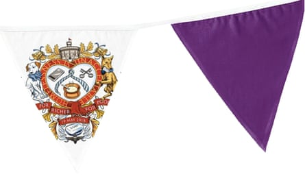 Royal wedding bunting from We Built This City, part of the For Richer For Poorer range.