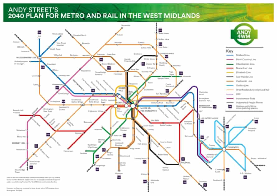 Mayor Andy Street's plan for a new West Midlands transport network