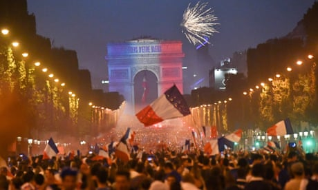 France celebrates World Cup victory – in pictures