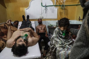 People in hospital in Syria.
