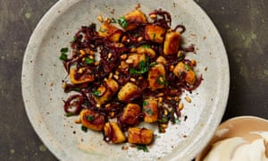 Yotam Ottolenghi's gnocchi with sumac onions and brown butter pine nuts