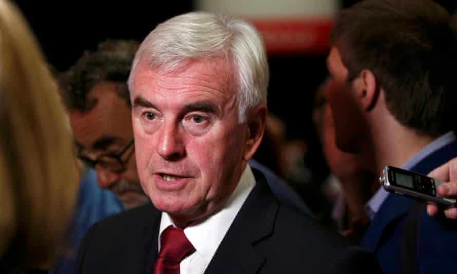 John McDonnell at the Labour party conference