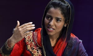 Sonita Alizadeh at the Women in the World summit in London last October