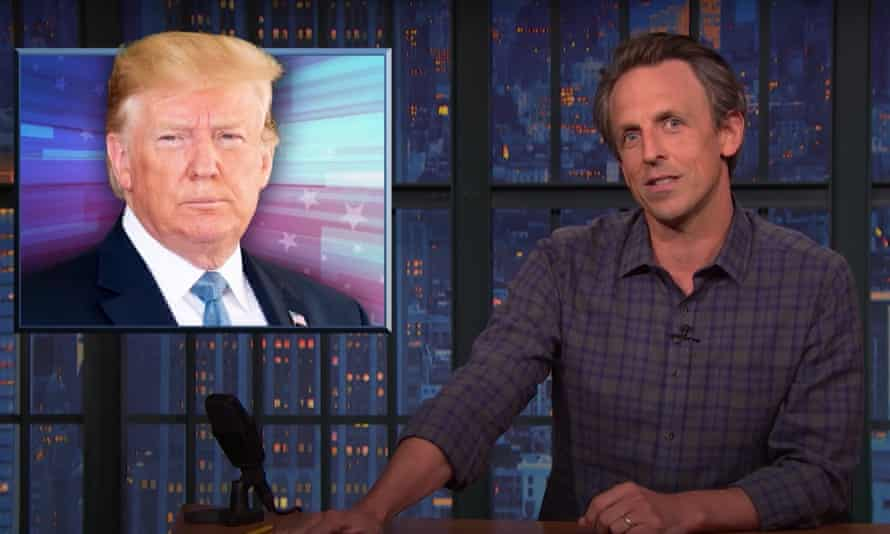 """Seth Meyers on grand jury investigation into Trump's business dealings: """"At this point, I wouldn't be shocked if it turned out he tried to claim a deduction for a bribe. I mean, what else do we need? Trump to show up to a Fox interview with a shovel and a shirt that says 'I love burying bodies?'"""""""